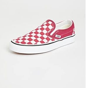 Vans Checkerboard Slip On, Red/White, 8.5, NWT